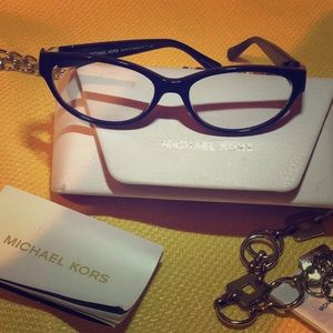 Michael Kors frames with Gold flakes throughout.
